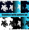 turtle pattern set vector image vector image