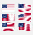 usa flag official colors vector image