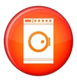 Washing machine icon flat style vector image vector image