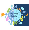 winter solstice vector image vector image
