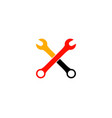 wrench automotive repair service logo vector image vector image