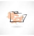 folder grunge icon vector image