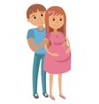 Man with Pregnant Woman vector image