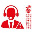 emergency service icon with love bonus vector image