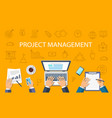 project management concept vector image