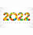 2022 yellow colouerd bubbles vector image