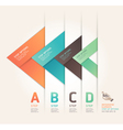 Abstract arrow step options origami style vector | Price: 1 Credit (USD $1)