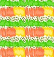 Abstract green and orange scribble with dots vector image