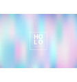 abstract smoot blurred holographic gradient vector image vector image