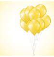 background with yellow balloons vector image vector image