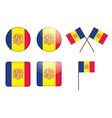 badges with flag of Andorra vector image vector image