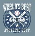 baseball best sport vector image vector image