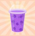 blackberry detox drink cartoon flat style vector image