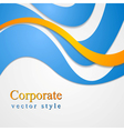 Bright corporate card design vector image vector image