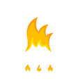 bright tongues of icon flame on white vector image