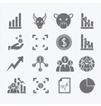 Business Human icons set vector image vector image