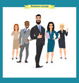 business people teamwork business team vector image