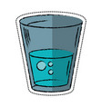 cartoon glass water fresh icon vector image vector image