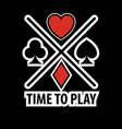 casino poker logo template gamble play cards vector image vector image