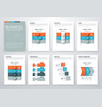 color elements for infographics vector image