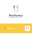creative fork and spoon logo design flat color vector image vector image