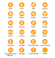 Cryptocurrency icons vector image vector image