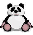 cute fat panda vector image vector image