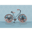 decorative bicycle vector image