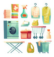 dry cleaning service laundry equipment vector image