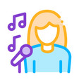 female singer with microphone sing recital vector image