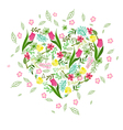 floral background with herbs tulips and wild flowe vector image vector image