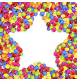 frame of star colored candies vector image vector image