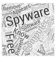 free spyware scan Word Cloud Concept vector image vector image