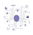 function of the brain artificial intelligence vector image