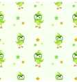 Funny texture with comic green bird vector image vector image