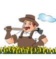 gardener with a shovel vector image