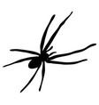 halloween spider symbol icon design vector image vector image