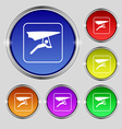 hang-gliding icon sign Round symbol on bright vector image vector image