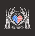 i love you america forever skull bones skeleton ha vector image vector image