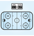 ice hockey field plan with score board eps10 vector image vector image