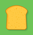 Icon of bread or loaf slice Symbol of toast vector image vector image