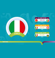 italy national team schedule matches in final vector image vector image