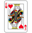 king of hearts french version vector image vector image