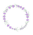 lavender wreath for your text presentation vector image vector image