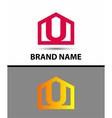Letter U logo symbol icon vector image vector image
