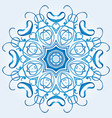 light blue element of the ornament vector image vector image