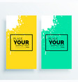 minimal set of bannes with water white splash vector image vector image