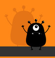 monster black silhouette looking up wall shadow vector image vector image