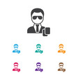 of business symbol on security vector image vector image