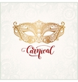 old venetian carnival mask with ornamental floral vector image vector image